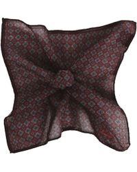 Stenstroms - Wool & Silk Blend Patterned Pocket Square - Lyst