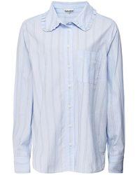 Ganni Organic Cotton Stripe Shirt - Bleu