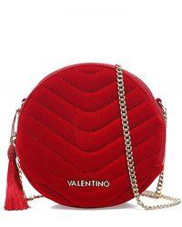 Valentino By Mario Valentino Carillon Velvet Crossbody Bag - Rouge