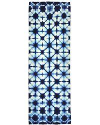 Jules B Shibori Flower Pashmina Scarf - Blue
