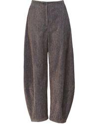 Oska Wucka Chenille Stripe Trousers - Brown