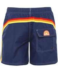 Sundek Short-length Swim Shorts - Blue