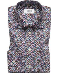 Eton of Sweden - Contemporary Fit Micro Floral Shirt - Lyst