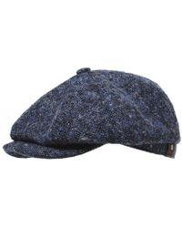Stetson Virgin Wool Hatteras Donegal Cap - Bleu