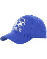 La Martina Mens Cotton Logo Cap White