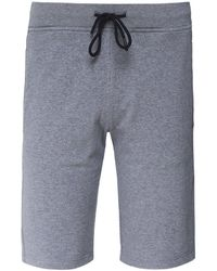 Paul & Shark Cotton Logo Sweat Shorts - Gris