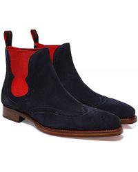 Jeffery West Suede Dexter Spite Chelsea Boots - Bleu