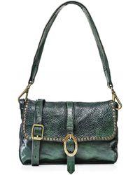 Campomaggi Studded Leather Shoulder Bag - Verde