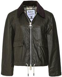 Barbour ALEXACHUNG Margot Waxed Cotton Jacket - Vert