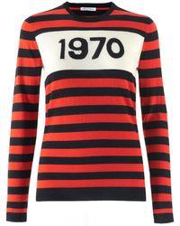Bella Freud 1970 Striped Merino Wool Jumper - Rouge