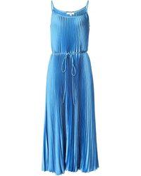 Vince Pleated Cami Dress - Bleu
