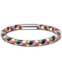 Paul Smith Leather Plait Bracelet - Multicolor