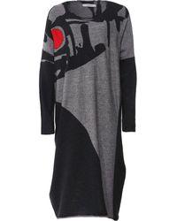 Crea Concept Merino Wool Long Sleeve Dress - Black