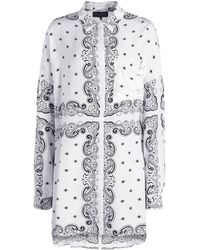 Kendall + Kylie Oversized Bandana Shirt Dress - White