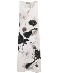 Crea Concept - Linen Splash Print Dress - Lyst