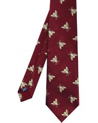 Favourbrook Silk Bees Tie - Red