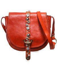 Campomaggi Small Studded Leather Shoulder Bag - Rouge