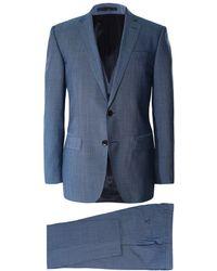 BOSS Slim Fit Three Piece Huge6/Genius5 WE Suit - Bleu