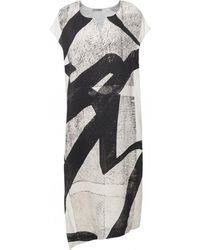 Crea Concept Abstract Print Dress - Black
