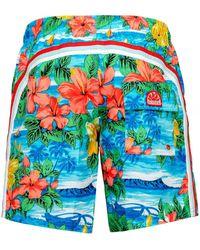 Sundek - Mid-Length Hawaiian Swim Shorts - Lyst