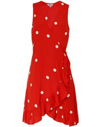 Rails Madison Scarlet Dots Wrap Dress - Rouge