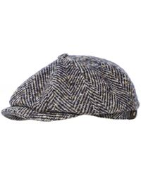 Stetson Hatteras Herringbone Check Cap - Multicolore
