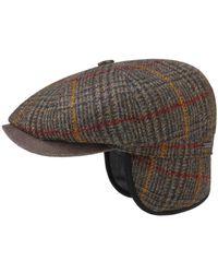 Stetson Wool Tweed Hatteras Cap - Vert