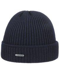 Stetson Merino Wool Beanie - Bleu