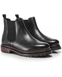 H by Hudson Wisty Leather Chelsea Boot - Black