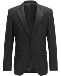 BOSS by Hugo Boss Slim Fit Virgin Wool Halwod_CYL Jacket - Noir