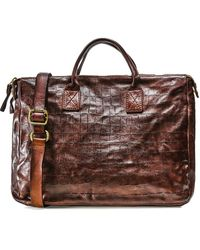 Campomaggi - Leather Mock Croc Briefcase - Lyst