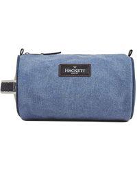 Hackett Canvas Wash Bag - Bleu