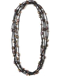Jianhui - Multi Strand Glass Bead Necklace - Lyst