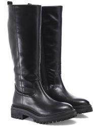 Geox Iridea Leather Calf Boots - Noir