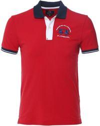 La Martina Slim Fit Contrast Trim Polo Shirt - Red