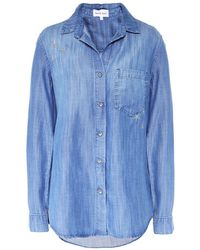 Bella Dahl Star Embroidered Button Down Shirt - Blue