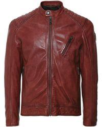Belstaff Leather V Racer 2.0 Jacket - Rouge
