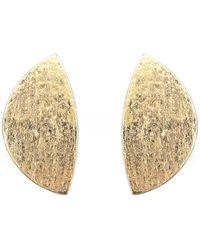Monies Sadie Clip On Earrings - Métallisé