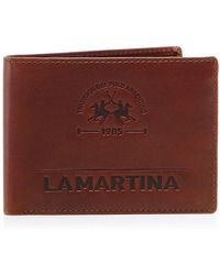 La Martina Leather Coin Wallet - Brown