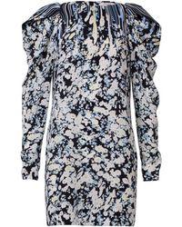 Dorothee Schumacher Blooming Love Silk Mini Dress - Bleu
