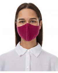 Grizas Pack Of 3 Plain Linen Protective Face Masks - Purple
