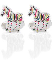 PS by Paul Smith Stripe Zebra Cufflinks - Multicolore