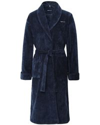 GANT Organic Cotton Premium Robe - Blue