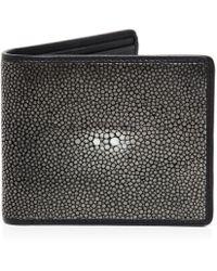 Oliver Sweeney Stingray Leather Benson Wallet - Black