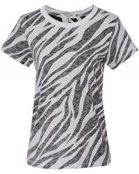 Rag & Bone All Over Zebra Slub Tee - Multicolor