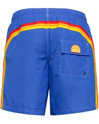 Sundek Mid-length Swim Shorts - Blue