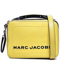 Marc Jacobs The Textured Mini Box Leather Bag - Vert