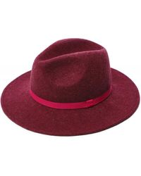 Paul Smith Wool Felt Fedora Hat with Swirl Lining - Rose