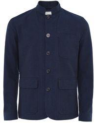 Oliver Spencer Striped Seersucker Coram Jacket - Bleu