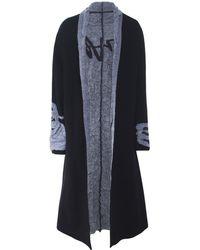 Moyuru - Wool Reversible Open Front Coat - Lyst